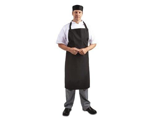WHITES CHEFS CLOTHING  Apron black polyester/ coton