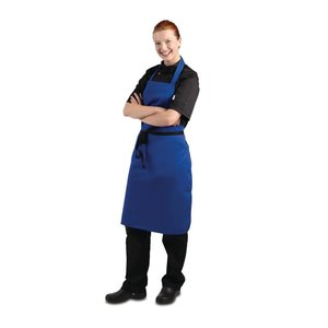 WHITES CHEFS CLOTHING  Apron cobalt blue polyester/ coton