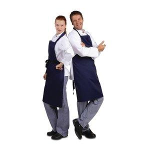 WHITES CHEFS CLOTHING  Apron dark blue polyester/ coton