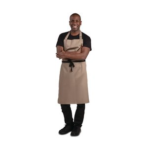 WHITES CHEFS CLOTHING  Apron light brown polyester/ coton