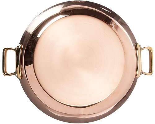 DE BUYER  Round  Chefs Fry Pans outside, copper 90 %  inside stainless steel 10 % Diam. 24 cm