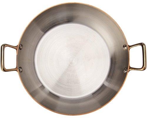 DE BUYER  Ronde  schotel  buitenzijde  koper 90 %  binnenzijde rvs 10 %   Diam. 20 cm