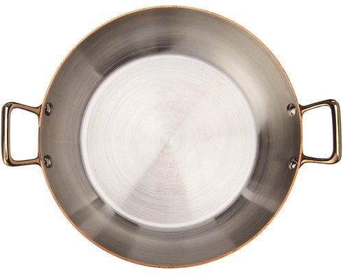 DE BUYER  Round  Chefs Fry Pans outside, copper 90 %  inside stainless steel 10 % Diam. 20 cm