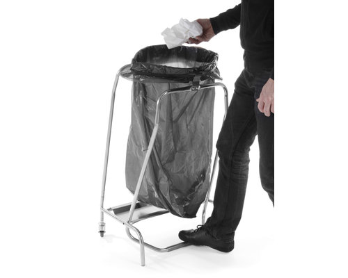M & T  Trash bag holder foot-operated