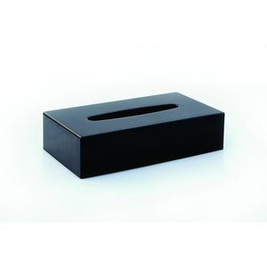 M&T Tissue houder ABS rechthoekig  glanzend  zwarte uitvoering