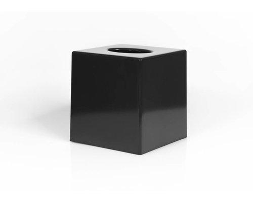 M&T Tissue houder cube model zwart matte uitvoering