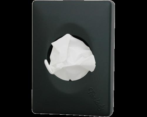 M & T  Houder voor hygienezakjes ABS  zwart glanzende uitvoering