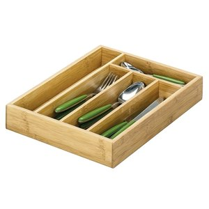 M & T  Flatware tray bamboo wood