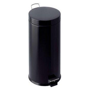 M & T  Pedaalemmer 30 liter zwart  gelakt