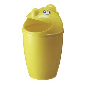 M & T  Waste bin with funny face yellow plastic 75 liter