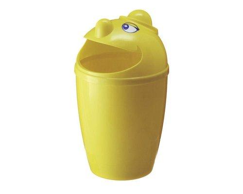 M & T  Afvalbak met grappig gezicht gele kunststof  75 Liter