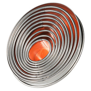 M & T  Doos met 9 ovale gladde uitsteekvormen