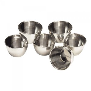 M & T  Pudding mould 15 cl stainless steel set of 6 pieces