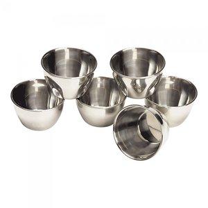 M & T  Timbaal  -  Puddingvorm  15 cl  roestvrijstaal 18/10  Set van 6 stuks