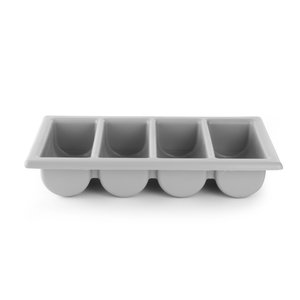 M & T  Flatware bin 4 compartments  GN 1/1 grey  PP
