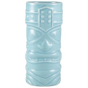 M & T  Tiki beker 40 cl blauw aardewerk