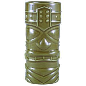 M & T  Tiki beker 40 cl groen aardewerk