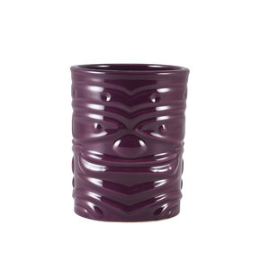 M & T  Tiki beaker 36 cl purple low shape