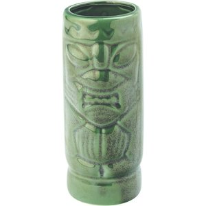 M & T  Tiki beaker 45 cl  Aztec green earthenware