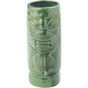 M & T  Tiki beker 45 cl Aztec groen   Aardewerk