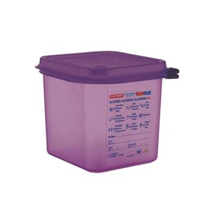 ARAVEN  Food container with lid  GN 1/6  purple allergen polypropylene