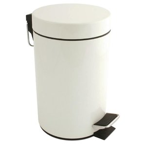 M & T  Pedaalemmer 3 liter wit gelakt