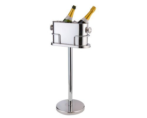 M & T  Dubbele champagne - wijnkoeler inclusief voet
