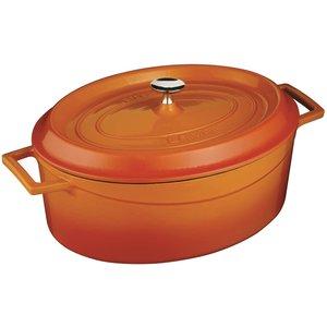 LAVA CAST IRON Oval cookpot 28 x 21 cm orange