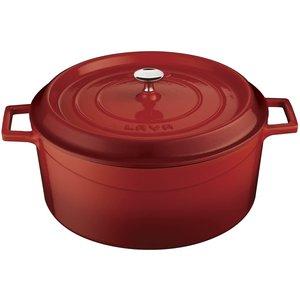 LAVA CAST IRON Braisière ronde 24 cm couleur rouge