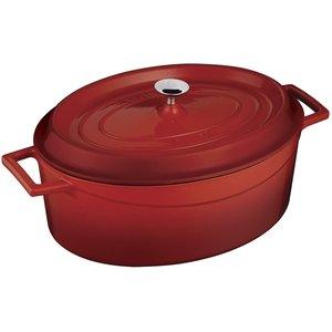 LAVA CAST IRON Braisière ovale 28 x 21 cm couleur rouge