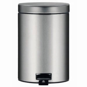 M & T  Pedal bin 5 liter matt stainless steel  with soft close system