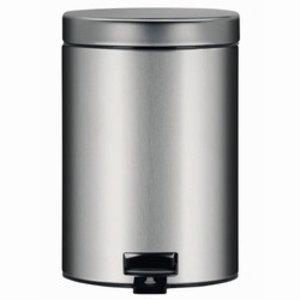 M & T  Poubelle à pédale 5 litres inoxydable mat avec système de fermeture amortie