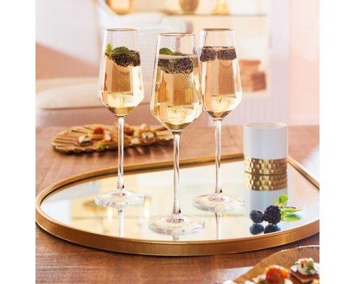 LUMINARC  Wijn- Cocktail glas 38 cll Ultime met gouden rand
