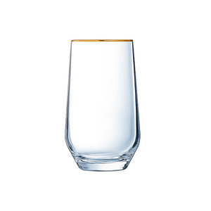 LUMINARC  High ball longdrink glass 40 cl Ultime with golden rim