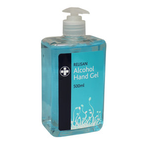 M & T  Handgel  dispenser met pompje 70% alcohol  500ml navulbaar