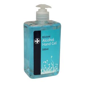 M & T  Handgel  dispenser met pompje 70% alcohol  500ml navulbaar