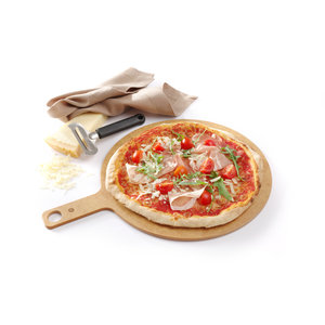 M & T  Pizza board with handle 30,5 cm