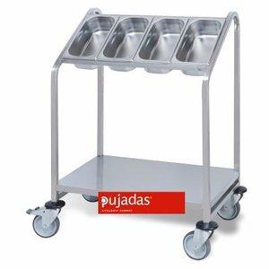 PUJADAS Chariot porte plateaux et distributeur de couverts