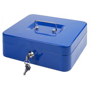 M & T  Geldkistje blauw gelakt