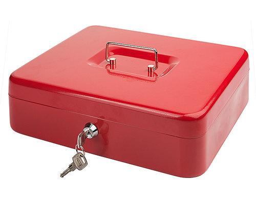 M & T  Cash box red laquered