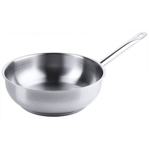 M & T  Sauteuse Ø 24 cm rvs 18/10 mat gepolijst