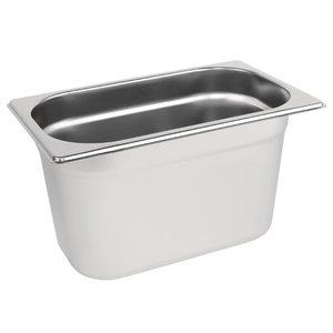 M & T  Gastronorm pan 1/4  stainless steel depth 100 mm