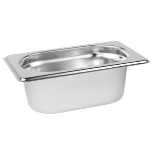 M & T  Gastronorm pan 1/9  stainless steel depth 150 mm