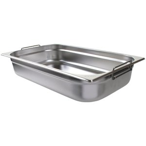 M & T  Gastronorm pan 1/1  stainless steel depth  100 mm  with handles