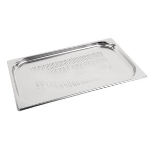 M & T  Gastronorm pan 1/1  stainless steel depth 20 mm perforated