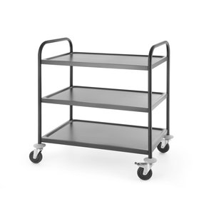M & T  Serving trolley 3 levels stainless steel matt black finish
