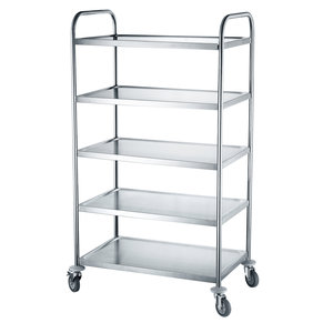 M & T  Serving trolley with 5 levels