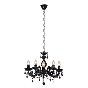 M & T  Chandelier black acrylic  - Ø 46 cm -  exclusive 5 x E14  bulbs