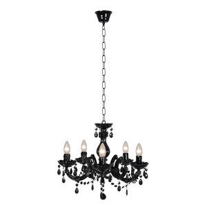 M & T  Kroonluchter zwart acrylic - Ø 46 cm -  exclusief 5x E14 bulbs