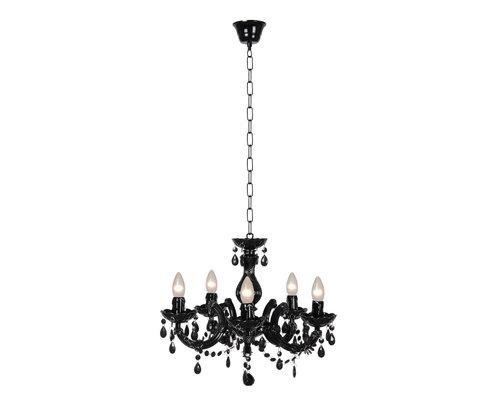 M & T  Chandelier black acrylic  - Ø 46 cm -  exclusive 5 x E14  bulbs